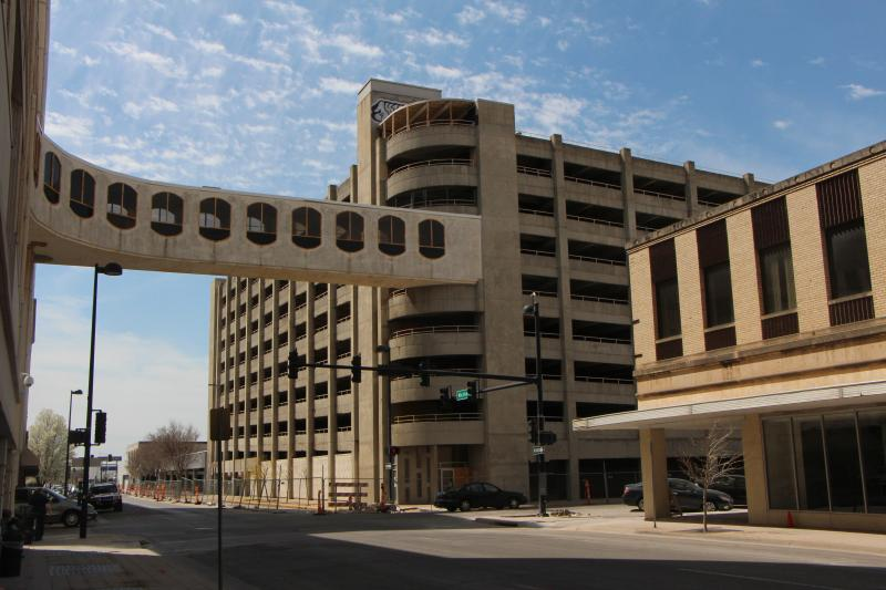 The former Macy's parking garage, located on Market. Last year, city officials allocated nearly $10 million dollars for its renovation.