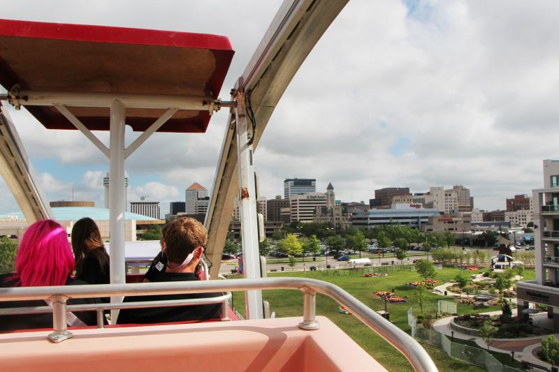 The look from atop the St. Francis Ferris Wheel. The attraction gave its first go around to an adoptive family from Wichita.