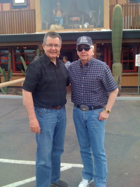 Former KFDI-AM host Johnny Western shows Dan one of his favorite restaurants in Phoenix, Arizona
