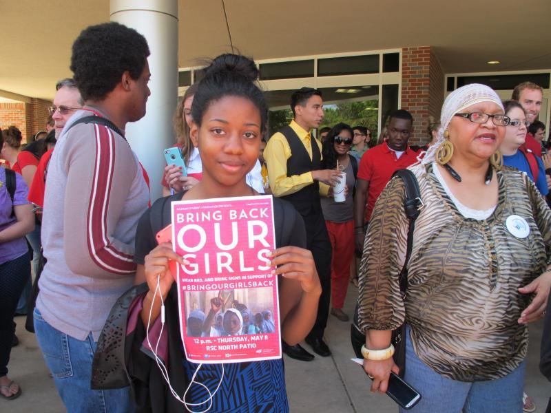 Mysha Anyasodike attends rally.