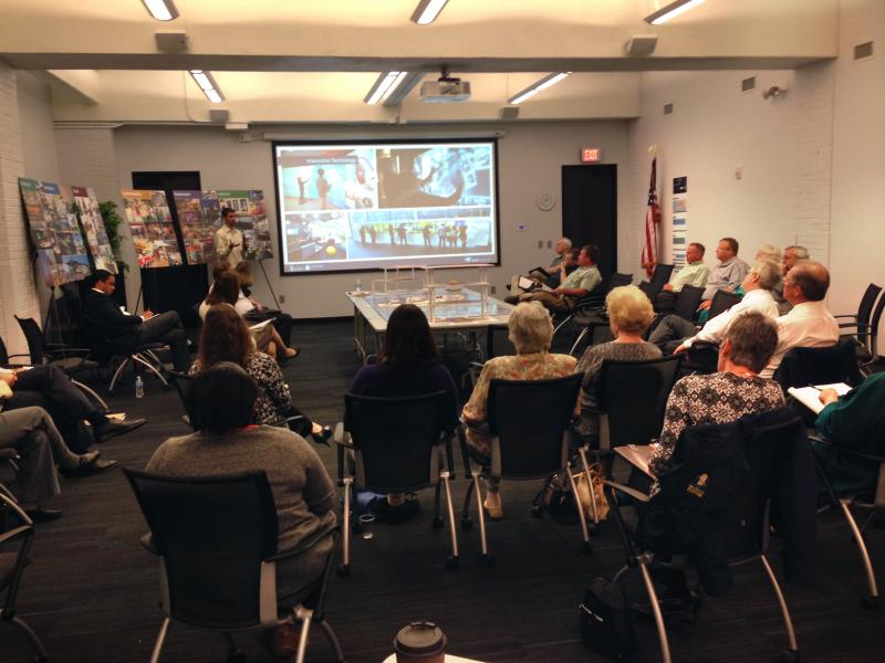 Design consultants present their ideas on the redevelopment of Wichita Central Library
