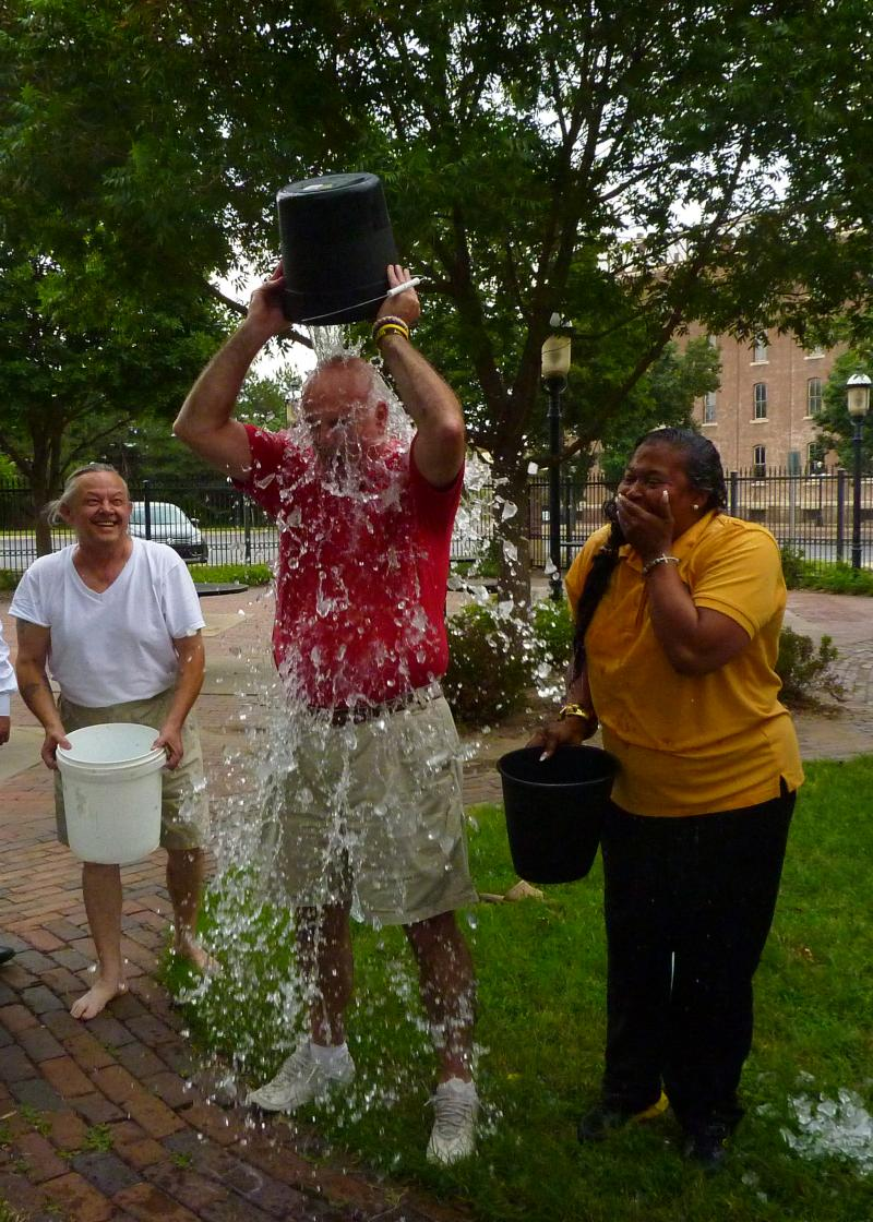 State Representative Jim Ward takes the challenge.