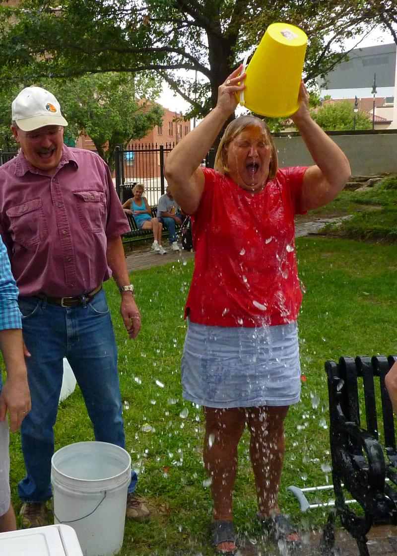 State Representative Carolyn Bridges takes the challenge.