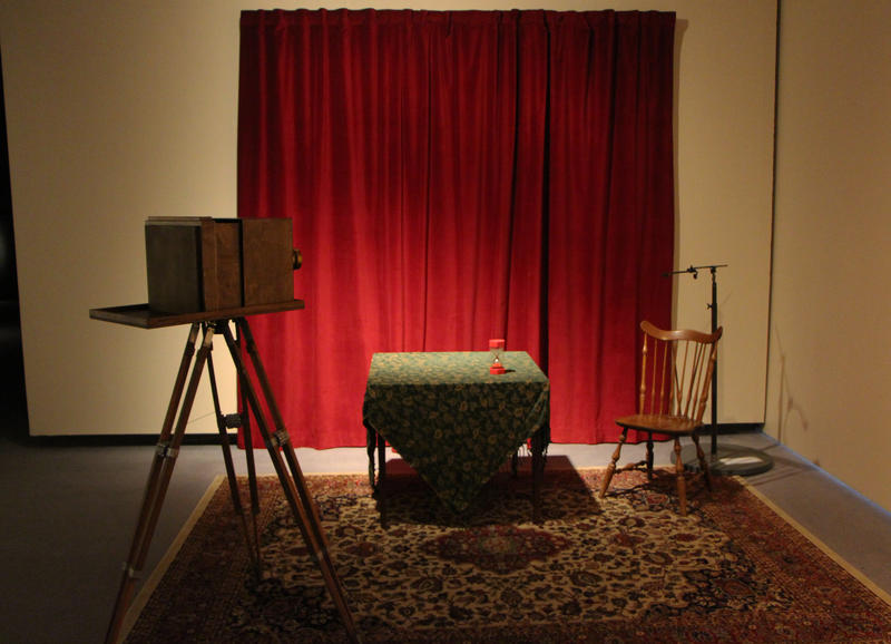 Wichita Art Museum has set up a mock daguerreotype studio in their main gallery