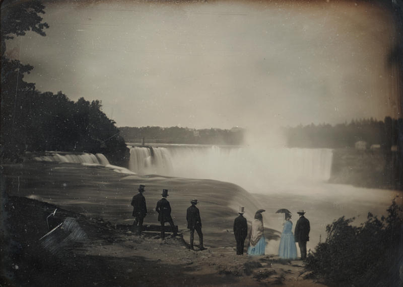 Platt D. Babbitt, American (1822-1879). Group at Niagara Falls, ca. 1853. Daguerreotype, whole plate, image size: 6 ½ x 8 ½ inches. Gift of Hallmark Cards, Inc., 2005.27.249.