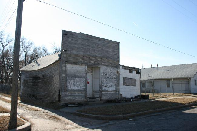 The McClinton Market shortly before it came down