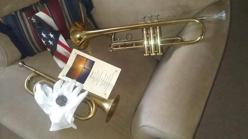 Emerson's bugle and trumpet.