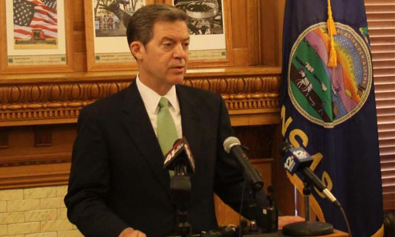 Gov. Sam Brownback in a file photo.