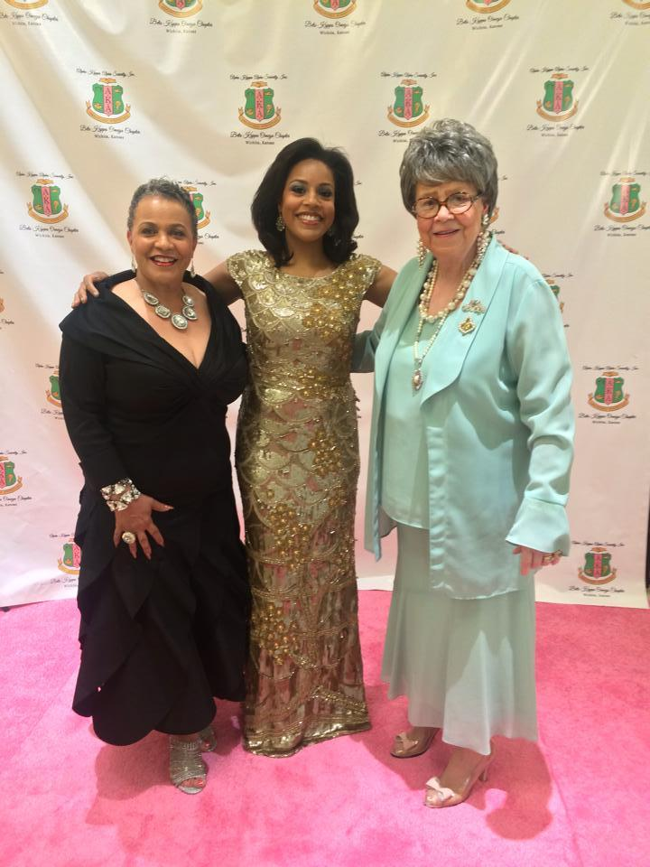 Sheinelle with her mom, Sheila Kinnard, and grandmother, Josephine Brown, at the Alpha Kappa Alpha banquet in Wichita on June 13.