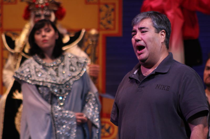 Tamura rehearses Monday for a production of Wichita Grand Opera's 'Turandot.'