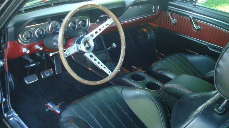 The interior of Keyser's car.