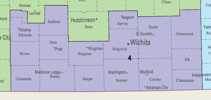 Kansas Parties To Select Candidates For Th District Special - Map of us senate districts in kansas