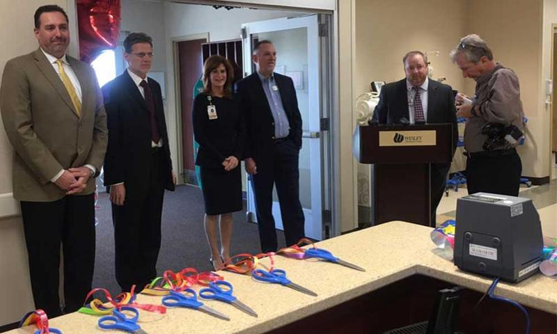 The ribbon cutting ceromony at the new Wesley Derby ER.
