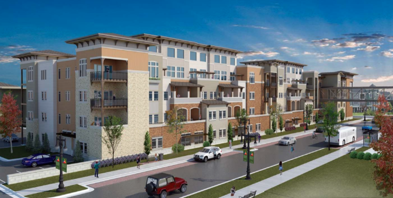 A rendering of the proposed development on Victor Place near Hillside and Douglas.
