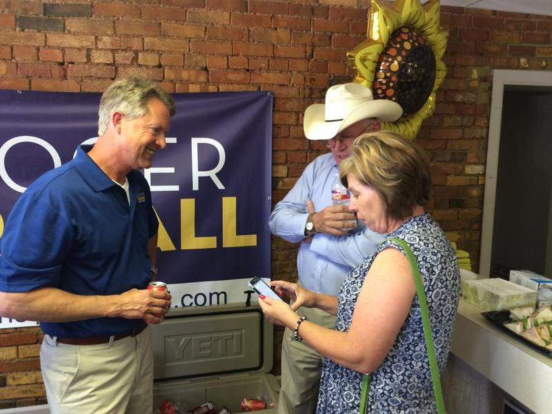 Roger Marshall visits last July with ag leaders who endorsed him.