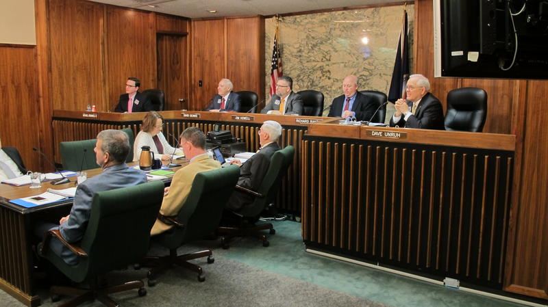Sedgwick County commissioners meet earlier this year.