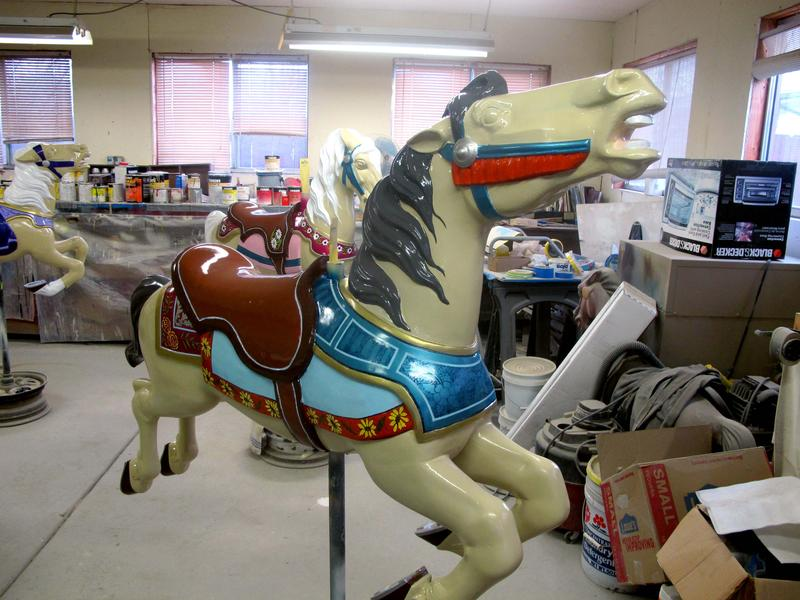 The former carousel at Joyland will soon have a new home at Botanica.