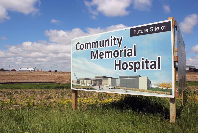 A new hospital, financed by a USDA loan, is under construction on the edge of Syracuse, Nebraska, a town of just under 2,000 people.