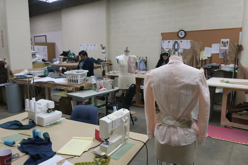 The Music Theatre Wichita costume workshop.