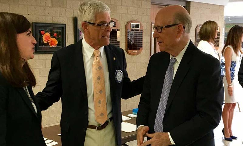 U.S. Sen. Pat Roberts at a Rotary Club of Wichita meeting earlier this week.