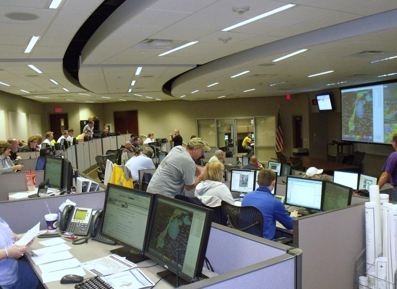 The Emergency Operations Center (EOC) activation during the Oaklawn tornado on April 14, 2012.