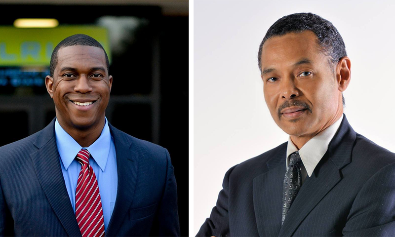 Brandon Johnson, left, and Mike Kinard are vying for the Wichita City Council District 1 seat.