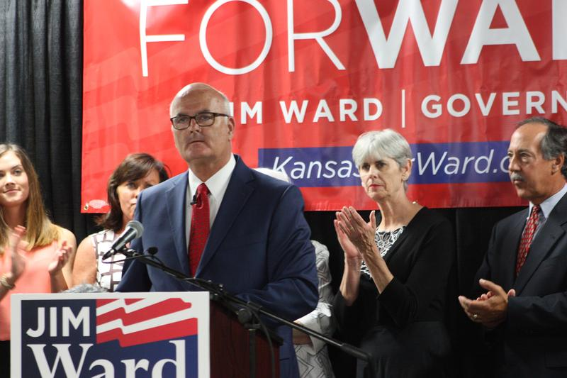 Jim Ward announces he is joining the race for Kansas governor during an event in Wichita Saturday.