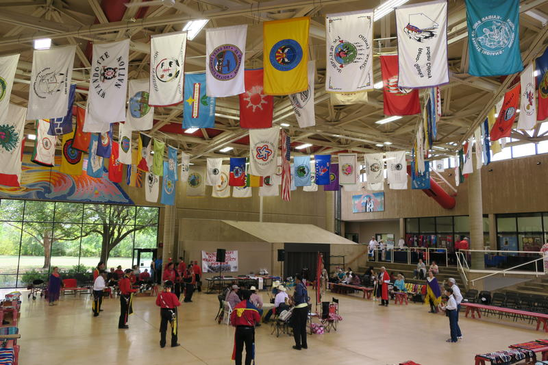 Warriors participate in the Wichita, Kansas, Intertribal Warrior Society Annual Powwow on Saturday, Sept. 9, at the Mid-America All-Indian Center.