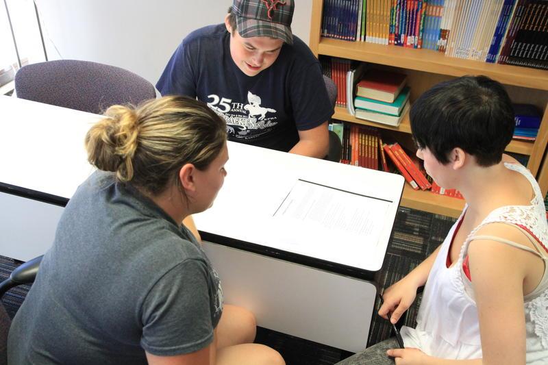 Adult education students work at Butler Community College's El Dorado Campus.