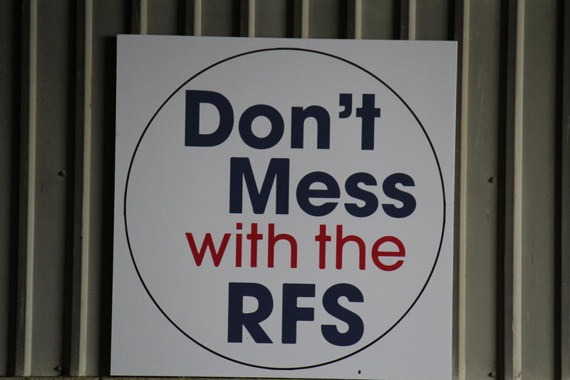 Protecting the Renewable Fuel Standard is a priority for Iowa officials, as shown by this sign at an RFS rally in Nevada in 2013.