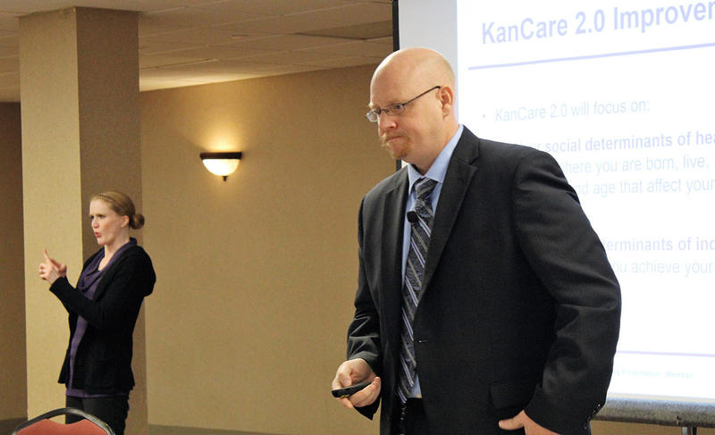 Jon Hamdorf, interim Medicaid director with the Kansas Department of Health and Enviornment, responds to questions at a KanCare 2.0 public hearing last week in Topeka.