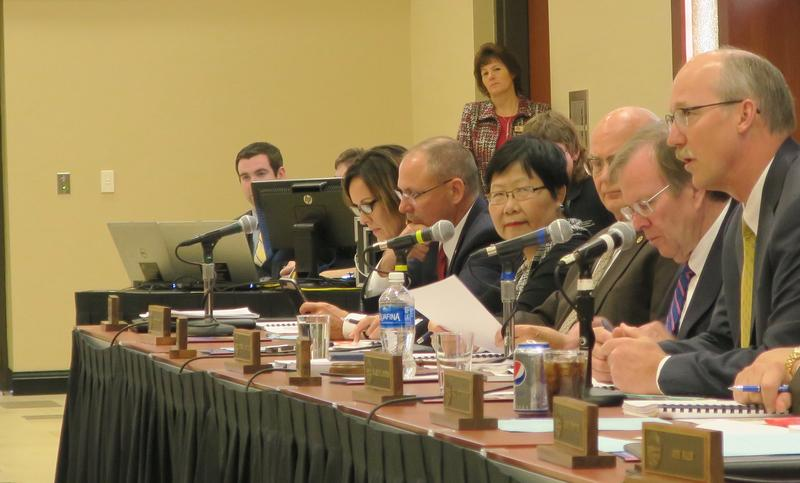 The Kansas Board of Regents holds its meeting at Wichita State University.