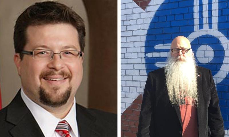 James Clendenin, left, and William Stofer are running for the District 3 seat on the Wichita City Council.