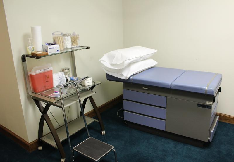 There is about 3,000 square feet of clinic space in the building on First and Topeka.