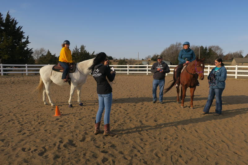 Therapy sessions at Freedom Hooves Therapeutic Riding Center involve activities to stimulate different parts of the body.