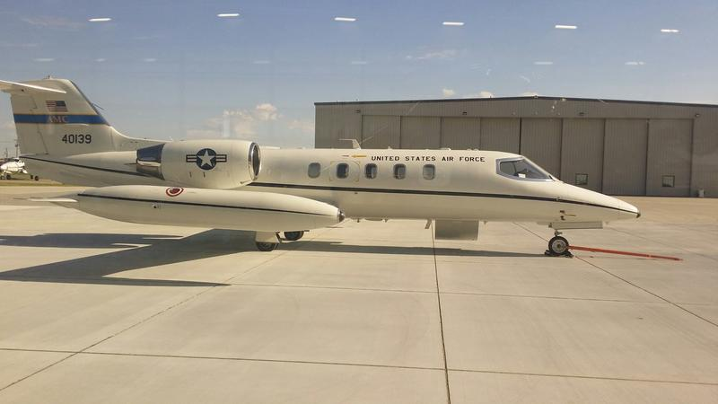 Global Aviation Technologies, or GAT, has received the first of 19 aircraft, the military's version of the Learjet 35A model, to modify.