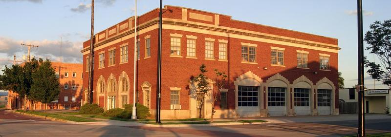 """The city-owned former firehouse at  500 S. Topeka Avenue is considered a """"catalyst site"""" for future development."""