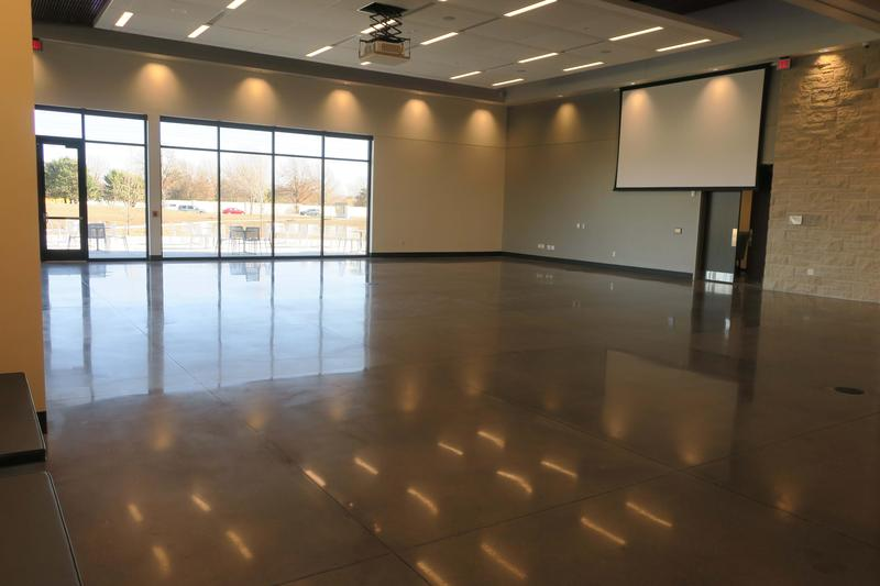 "Mark Arts added event space in the new building instead of a performing arts theater.  The ""Great Hall"" has an outdoor terrace and can accommodate 350 people."