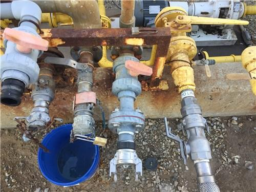 A photo from the CSB investigation shows just how close the transfer pipes at the MGPI facility were.