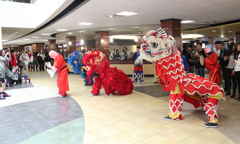 Wichita's East High lion dance team performs in WSU's 2015 Lunar New Year celebration.