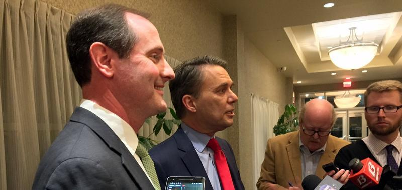 Tracey Mann, left, was tabbed by Kansas Gov. Jeff Colyer as the state's next lieutenant governor.