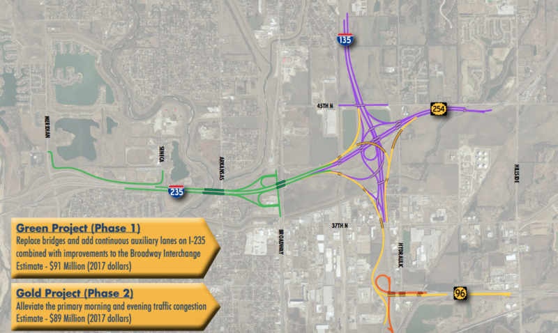 Four phases of improvements are planned for the Wichita North Junction Interchange.