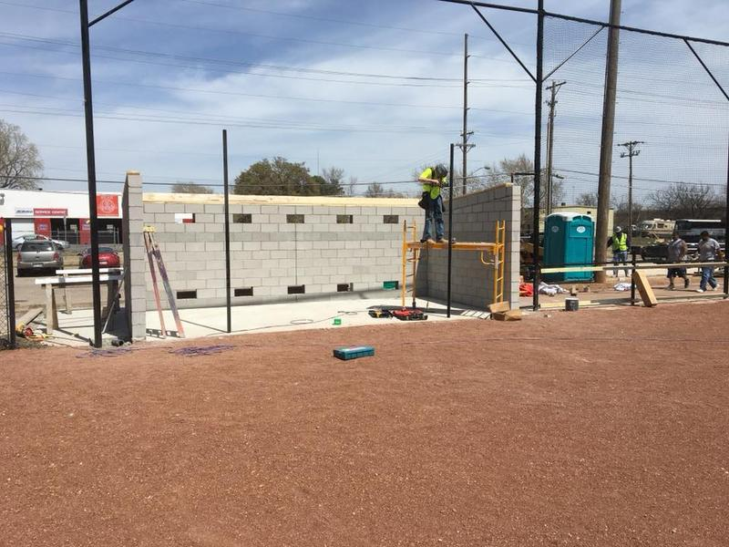 Renovations to two ball diamonds at McAdams Park in Wichita are nearly complete.