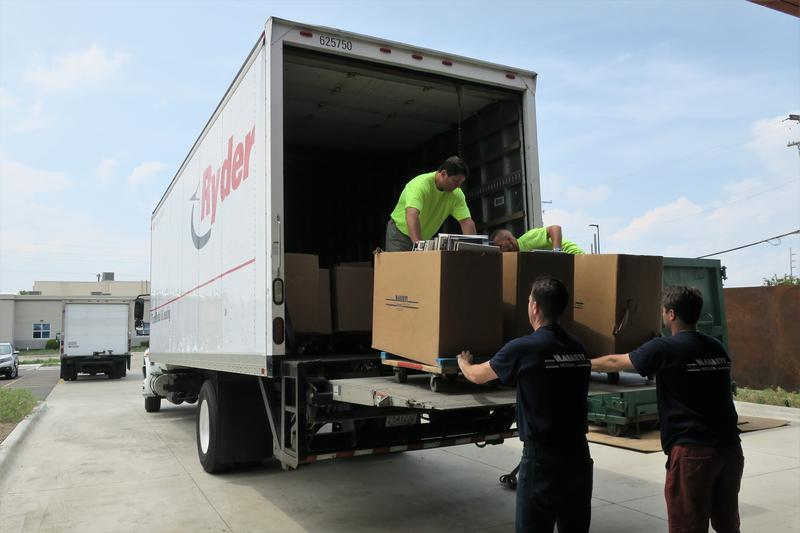 Hallett Movers of Chicago is handling the relocation of the Central Library's 400,000-plus books, magazines and archival materials.