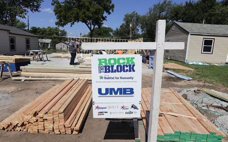 "Habitat for Humanity raised the walls Wednesday on the 37th house in its ""Rock the Block"" initiative."