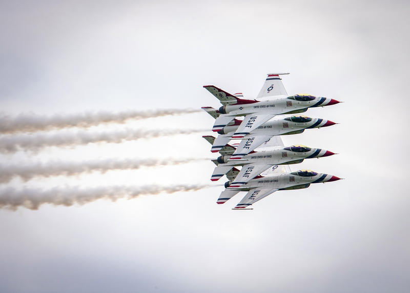 The U.S. Air Force Thunderbirds are among the elite squadrons performing during the air show at McConnell Air Force Base Sept. 8-9.