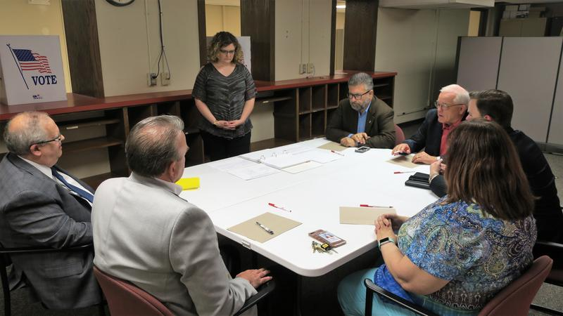 A canvassing board met Friday afternoon to approve the recount results.