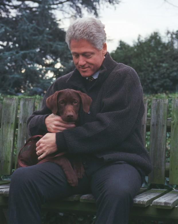 Buddy and Bill Clinton