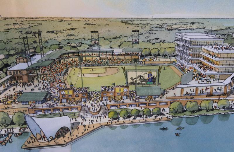 A concept of the new baseball stadium that will replace Lawrence-Dumont.
