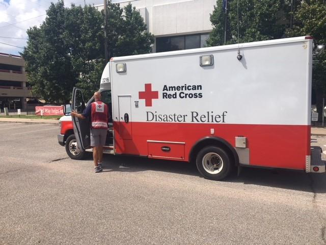 Red Cross Volunteer Bruce Meyer left Wichita Tuesday for the East Coast. The emergency response vehicle will provide support where needed after Hurricane Florence makes landfall.